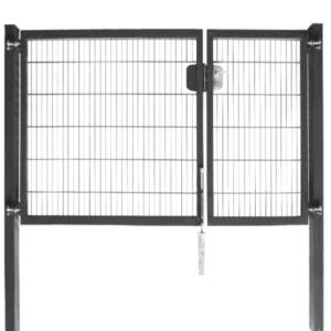 horganyzott kétszárnyú bejárati kapu 3m előnézet